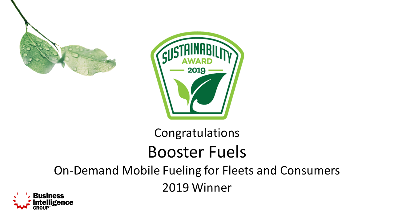 Booster Wins Sustainability Service of the Year