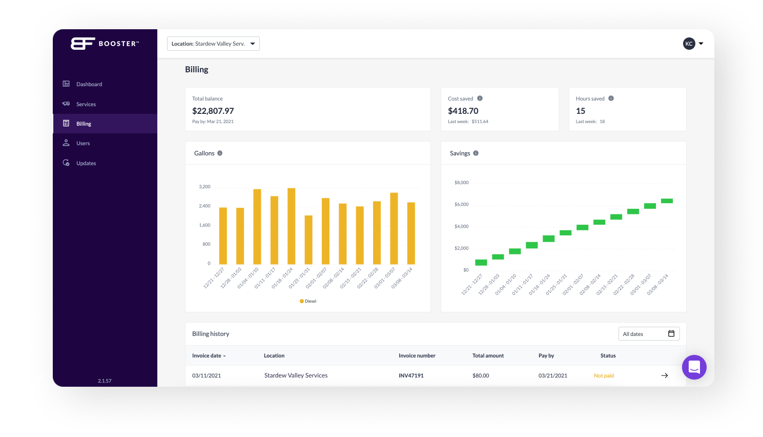 Feature Release: Quickly Access Invoices Through Your Booster Insights Dashboard