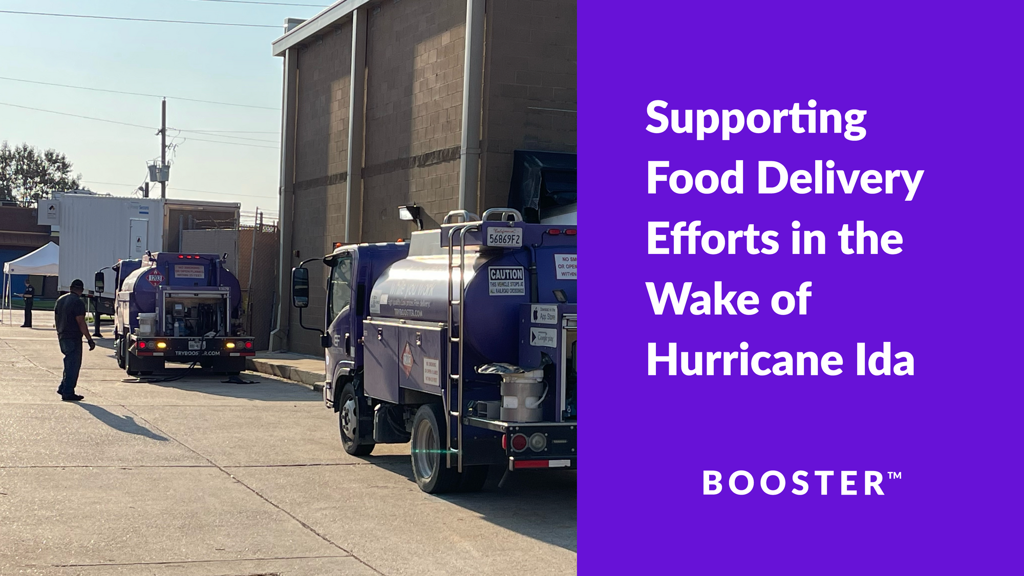 Supporting Food Delivery Efforts in the Wake of Hurricane Ida